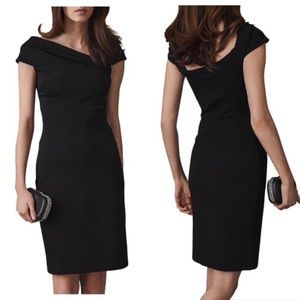 REISS little black dress LYN bardot 2 NWT shift